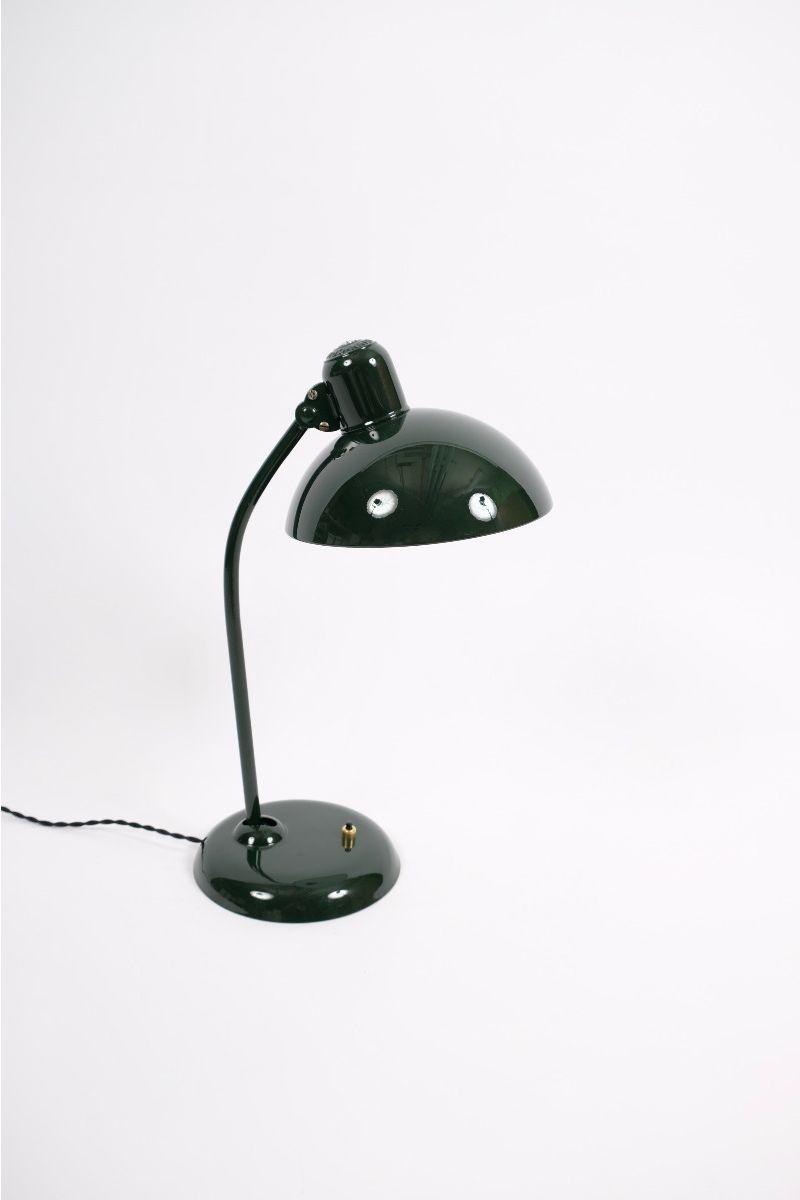 Christian Dell Kaiser Idell Model 6556 Super Bordlampe Jaguargrøn #9747