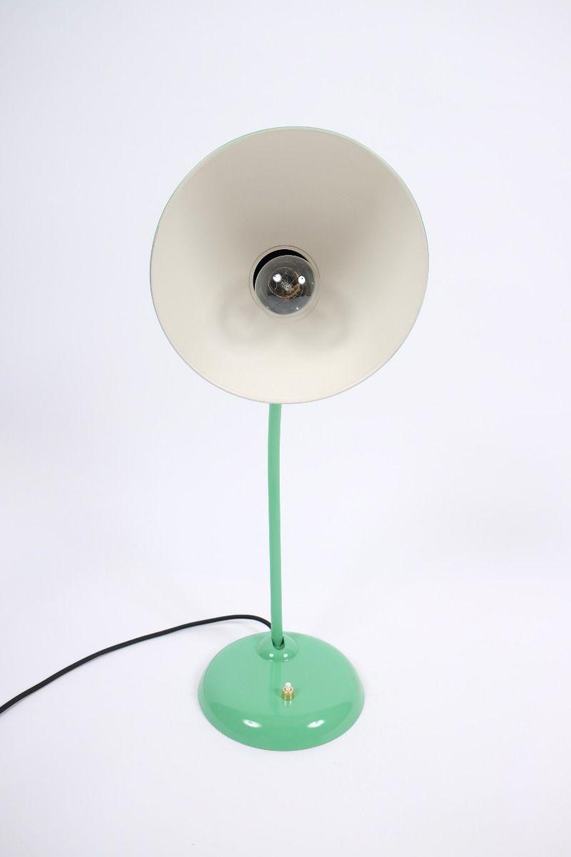 Christian Dell Kaiser Idell Model 6556 Super Bordlampe Grøn #9778