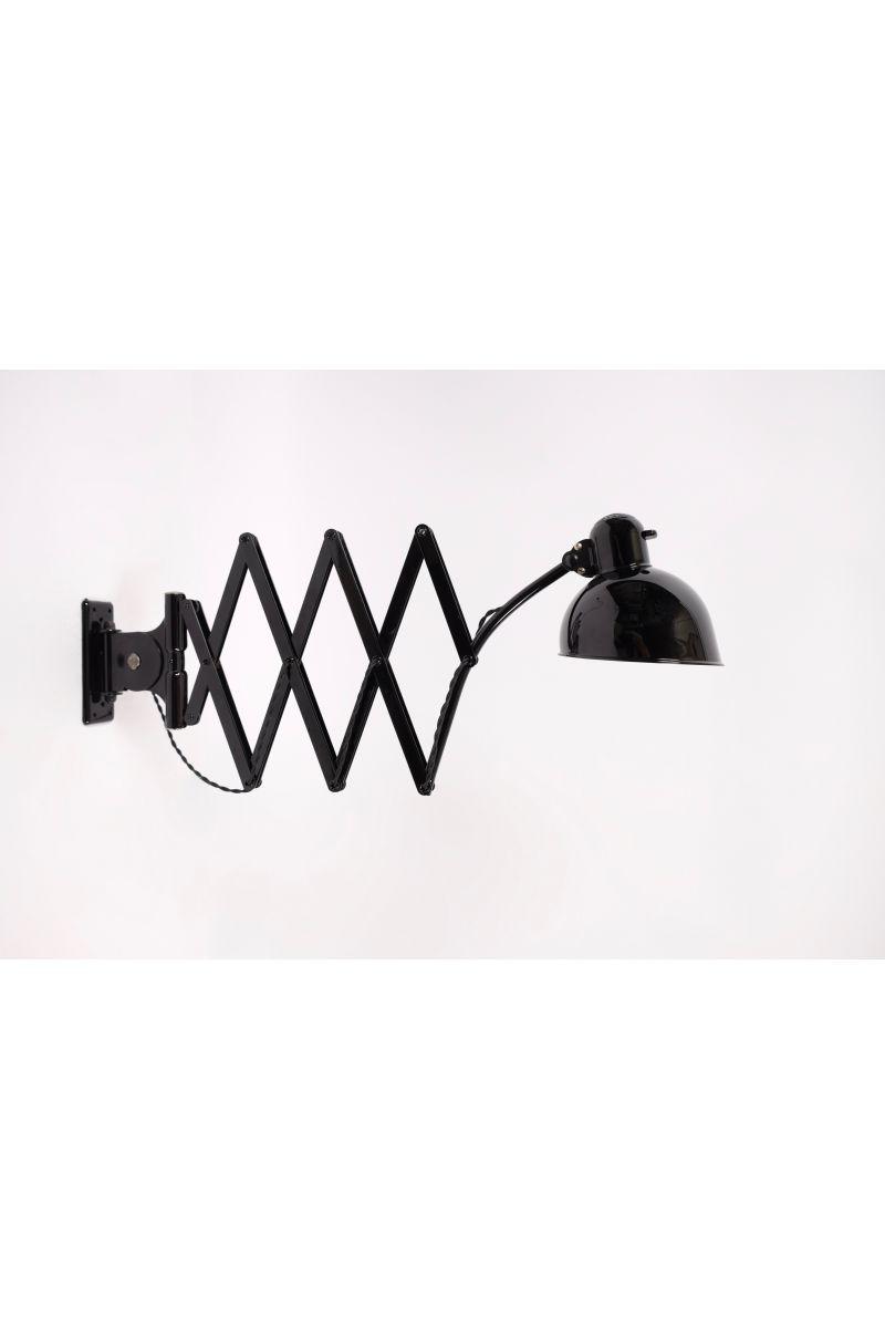 Christian Dell Kaiser Idell Model 6614 Sakselampe/Væglampe Blank Sort #7688