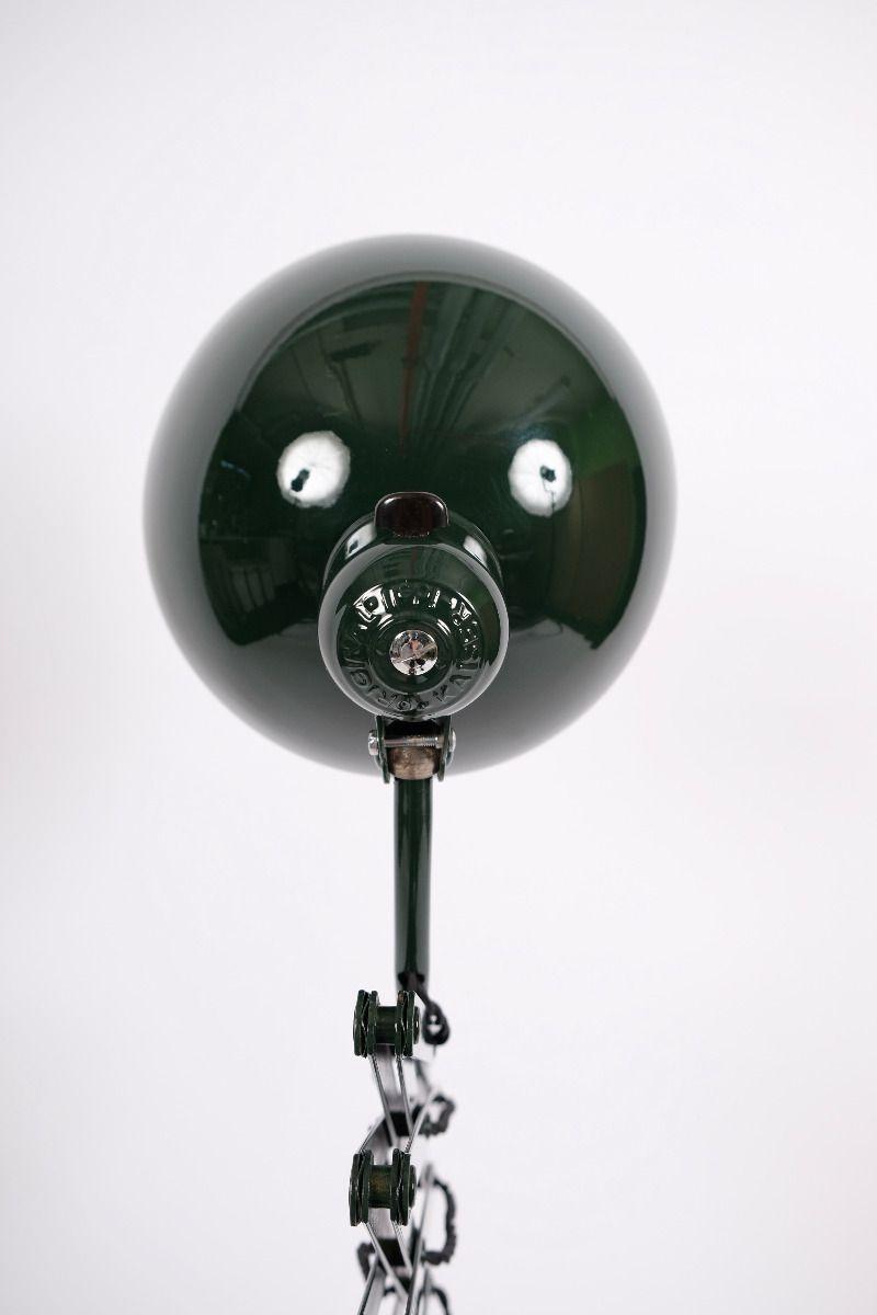Christian Dell Kaiser Idell Model 6614 Super Sakselampe/Væglampe Jaguargrøn #9089