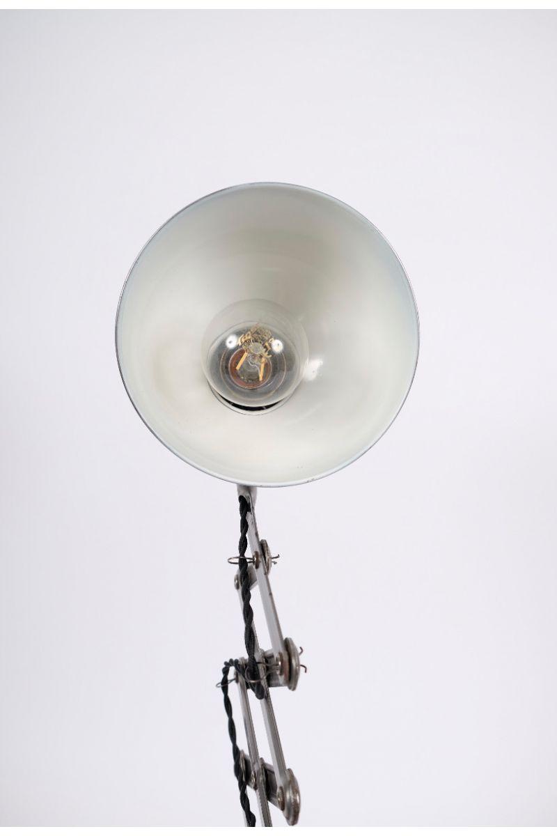 Christian Dell Kaiser Idell Model 6718 Sakselampe/Væglampe i Stålfinish #9522