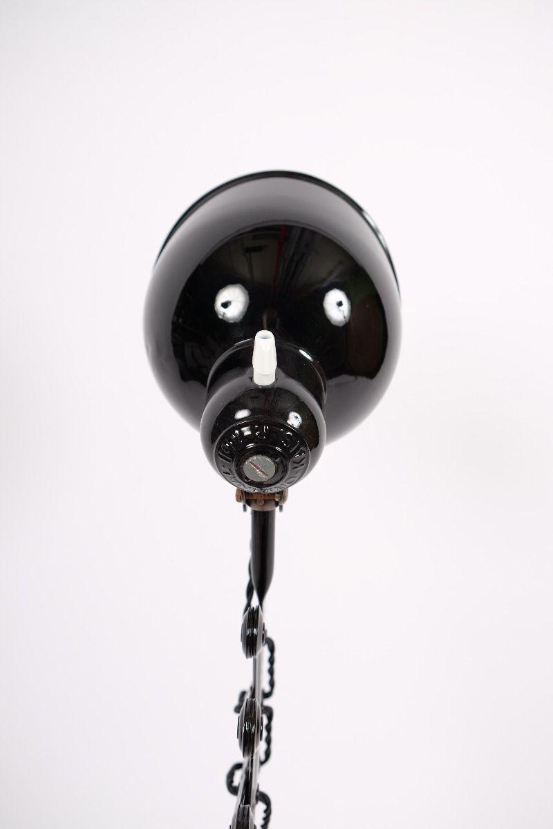 Christian Dell Kaiser Idell Model 6718 Sakselampe/Væglampe Blank Sort #8367