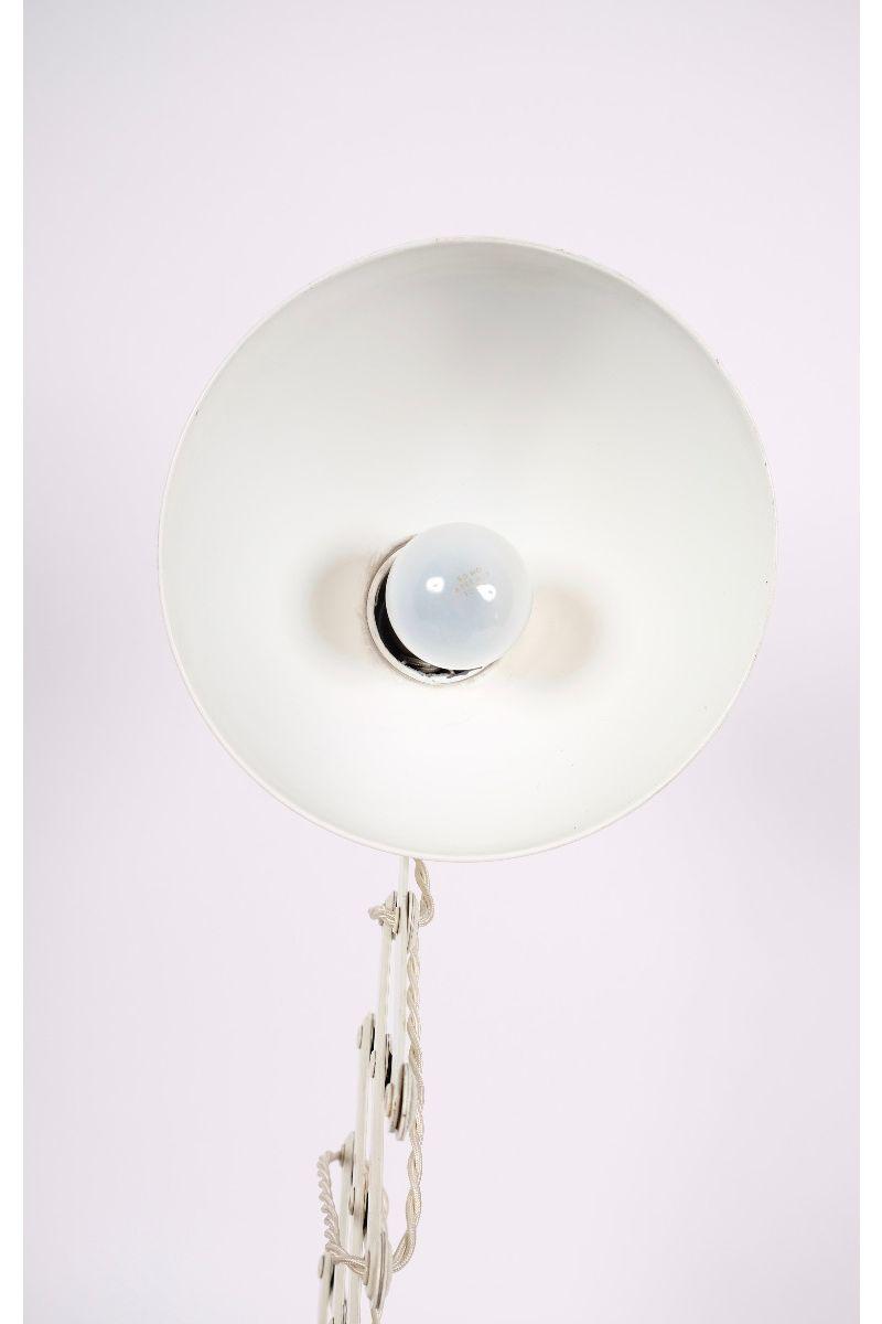 Christian Dell Kaiser Idell Model 6718 Super Sakselampe/Væglampe Elfenbensfarvet #8606