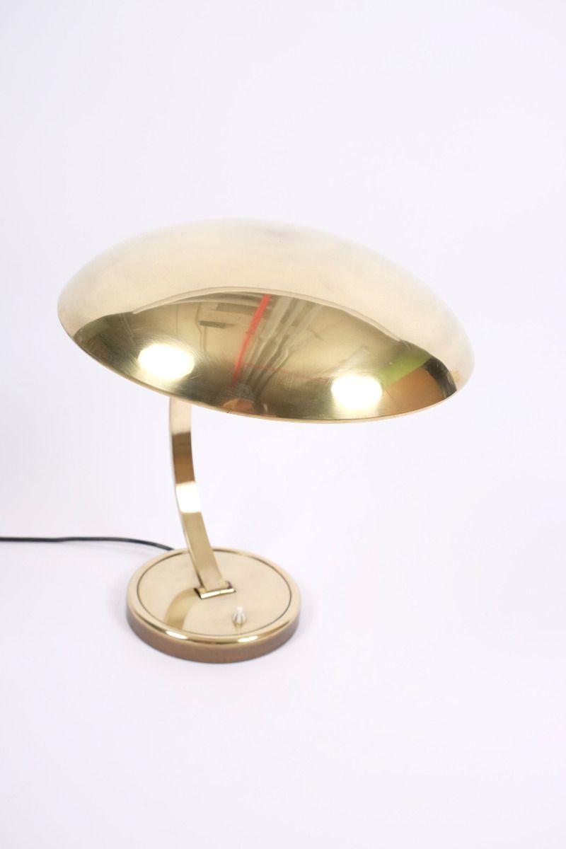 Christian Dell Kaiser Idell Model 6751 Messing Bordlampe #9235