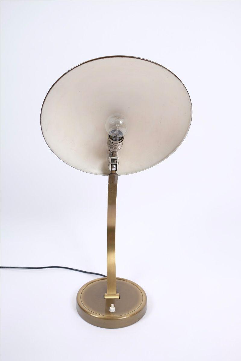 Christian Dell Kaiser Idell Model 6751 Messing Bordlampe #9234