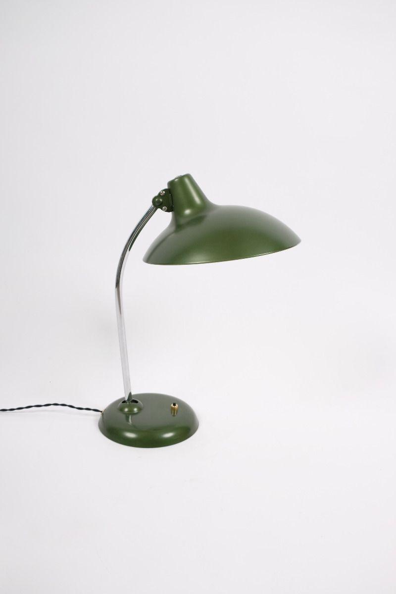 Christian Dell Kaiser Idell Model 6786 Bordlampe Grønmetallic #9657