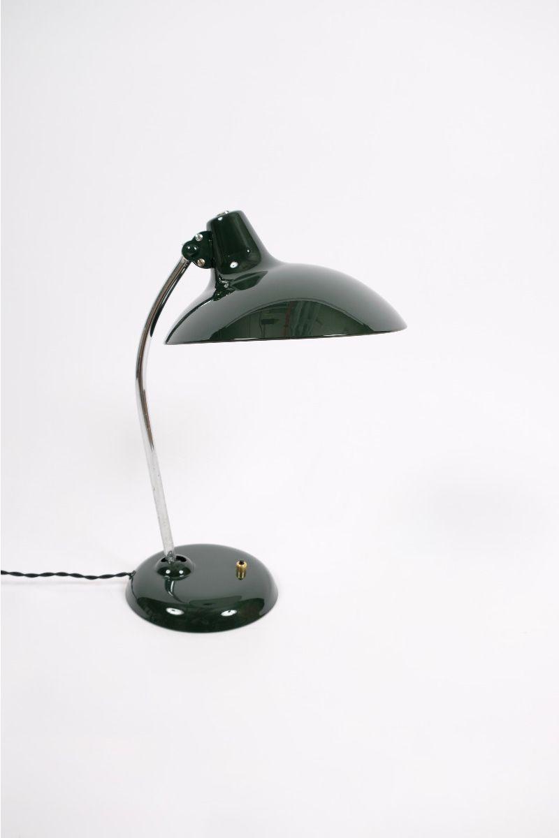 Christian Dell Kaiser Idell Model 6786 Bordlampe Jaguargrøn #9375