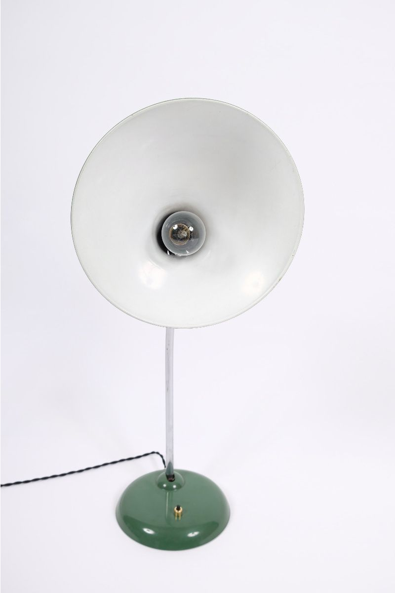 Christian Dell Kaiser Idell Model 6786 Bordlampe Grøn #9744