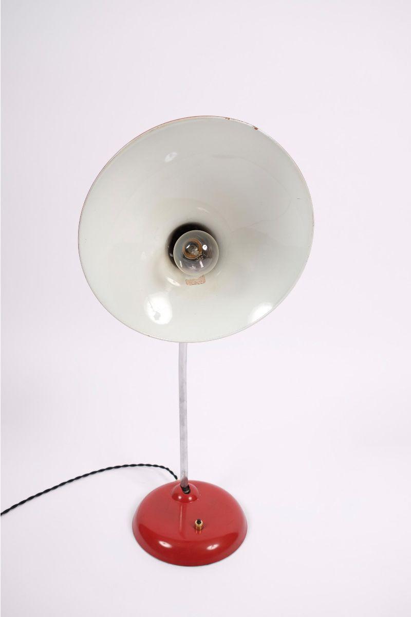 Christian Dell Kaiser Idell Model 6786 Bordlampe Rød #9083