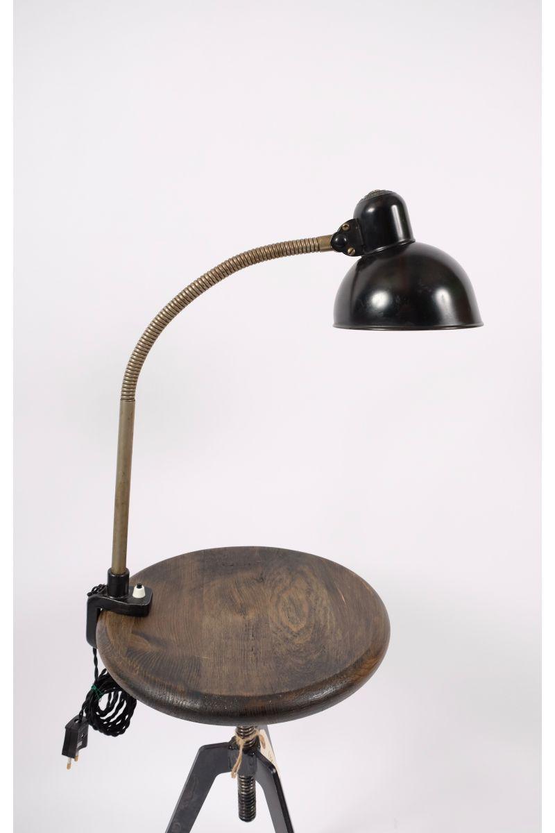 Christian Dell Kaiser Idell Flexarm Bordlampe Sort #7216