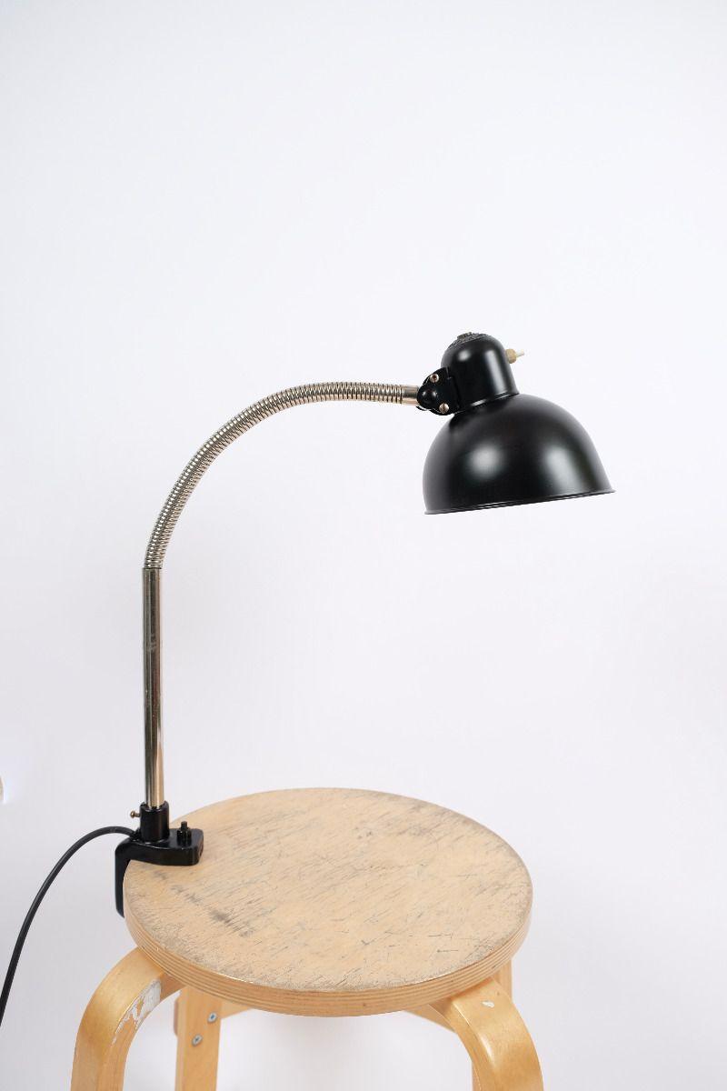 Christian Dell Kaiser Idell Flexarm Bordlampe Mat Sort #9500