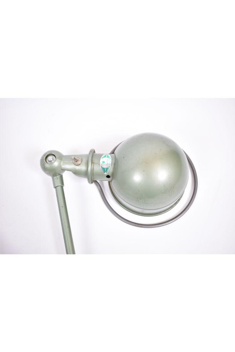 Fransk Vintage Jieldé Væglampe Med 2 Stk. 45 cm Arm i Original Vespagrøn #8435