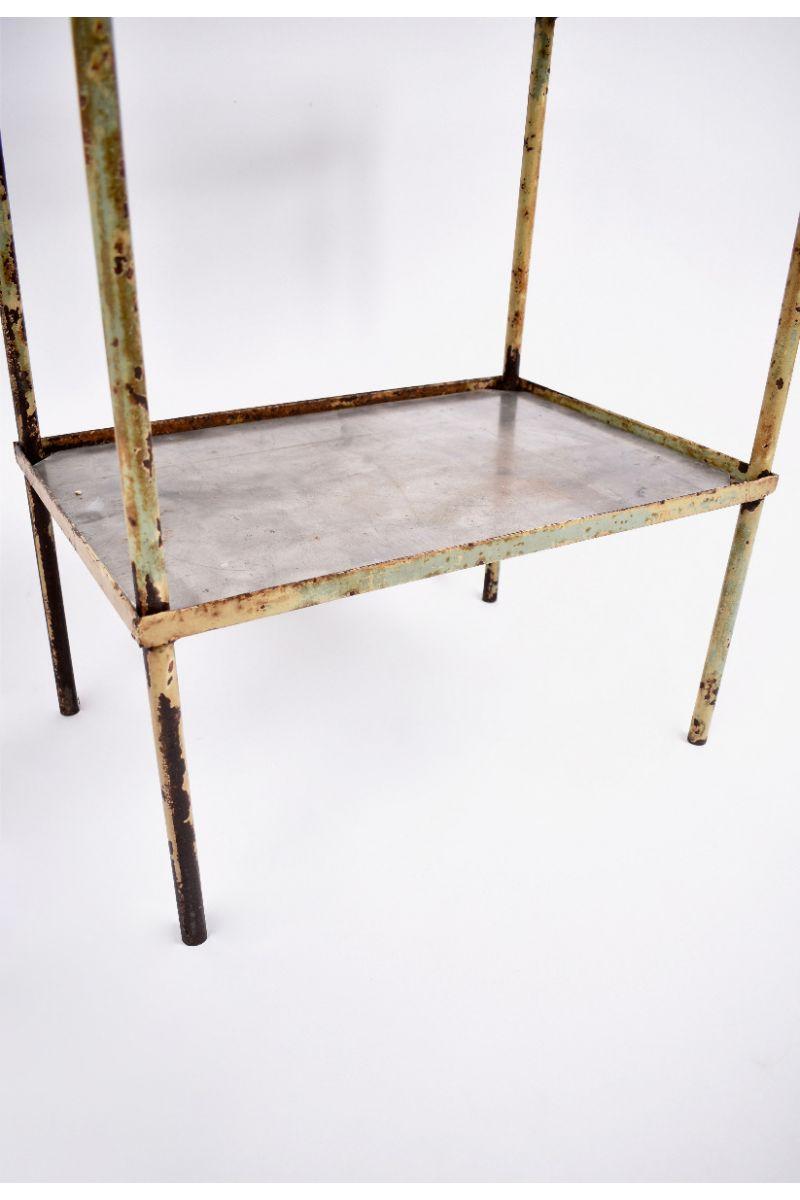 Sidebord/Barbord i Råt Metal #8553