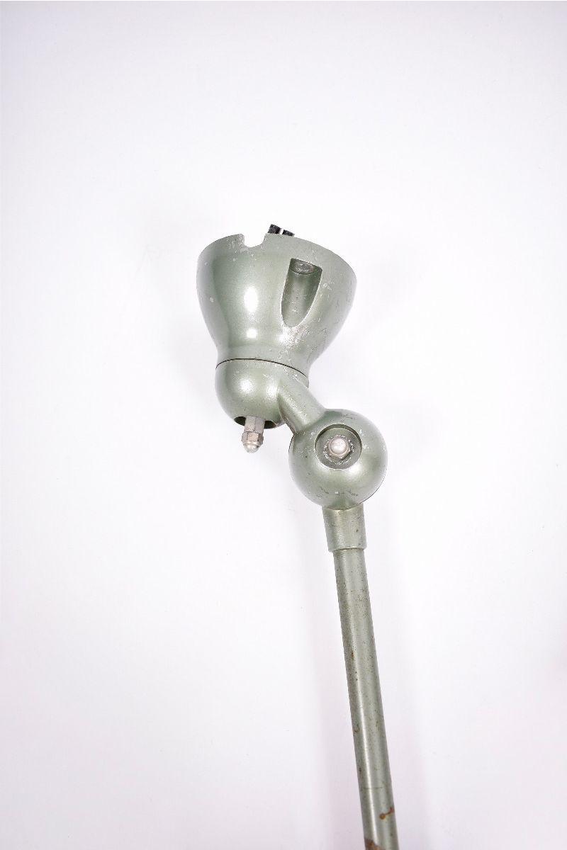 Fransk Vintage Jieldé Væglampe Med 2 Stk. 45 cm Arm i Original Vespagrøn #8613