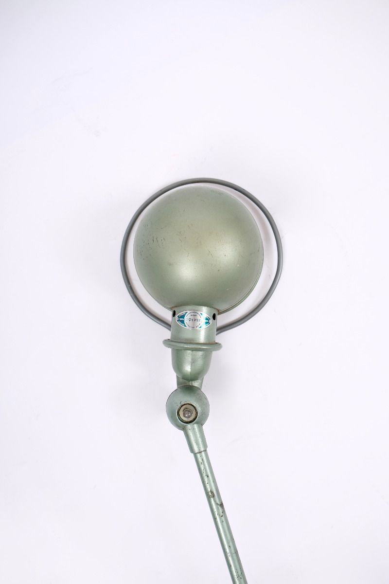 Fransk Vintage Jieldé Væglampe Med 2 Stk. 45 cm Arm i Original Vespagrøn #9807