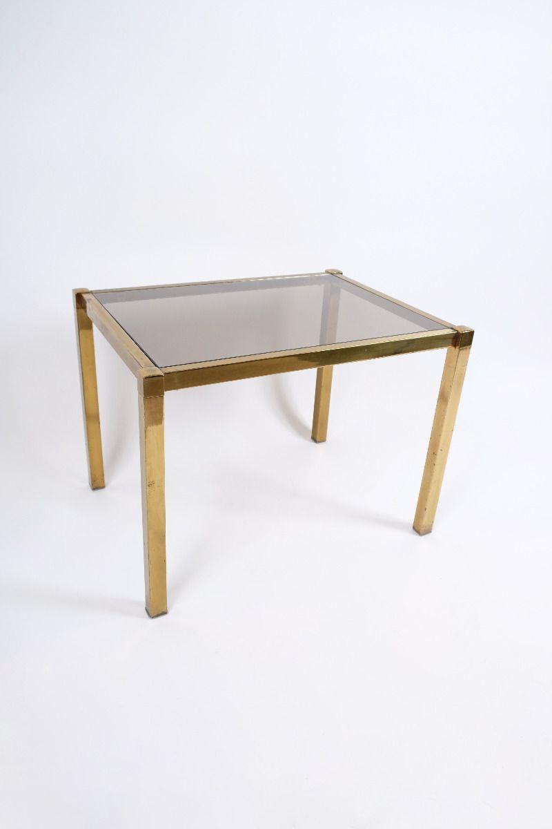 Barbord Af Messing Og Glas #10046