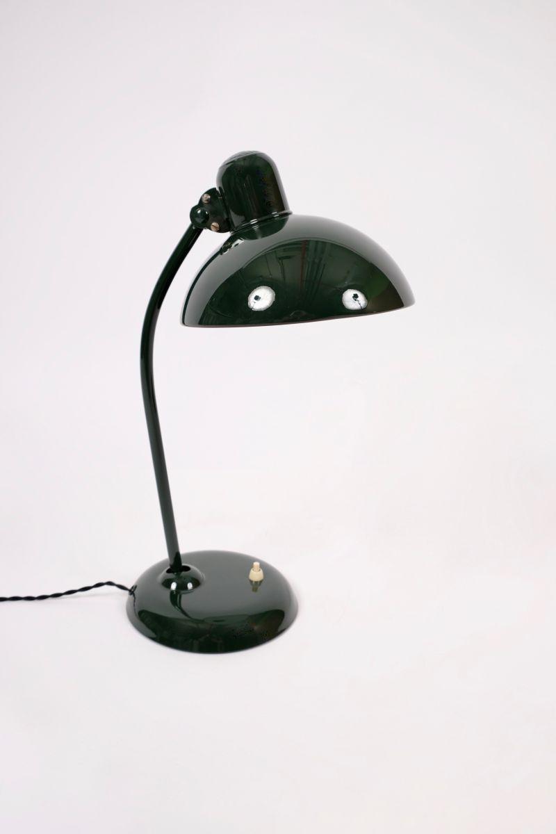 Christian Dell Kaiser Idell Model 6556 Super Bordlampe Jaguargrøn #8180