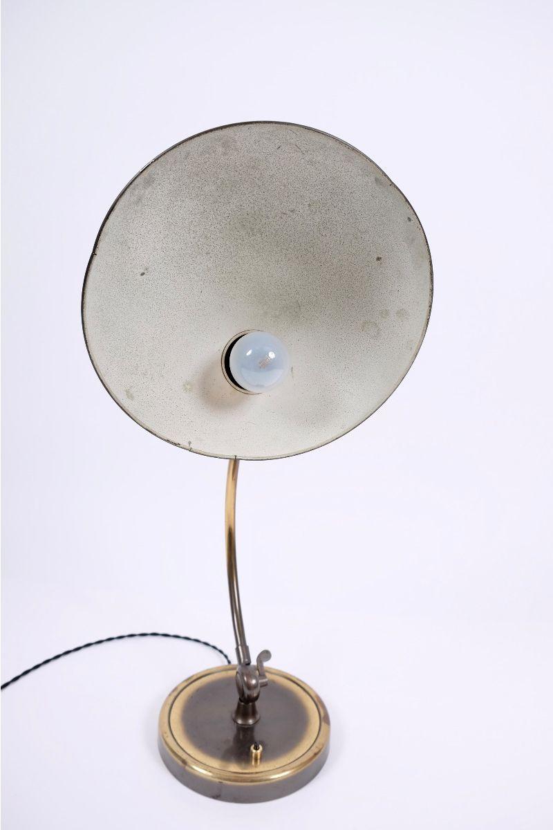 Christian Dell Kaiser Idell Model 6631 President Bordlampe Messing #9228