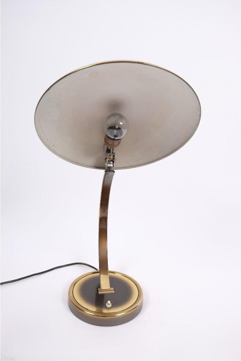 Christian Dell Kaiser Idell Model 6751 Messing Bordlampe #9255