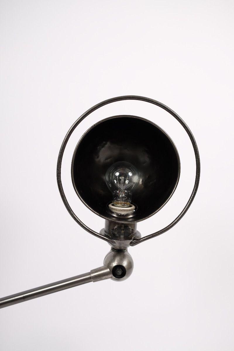 Fransk Vintage Jieldé Bordlampe Med 2 Stk. 45 cm. Arm i Dark Steel Finish #9440