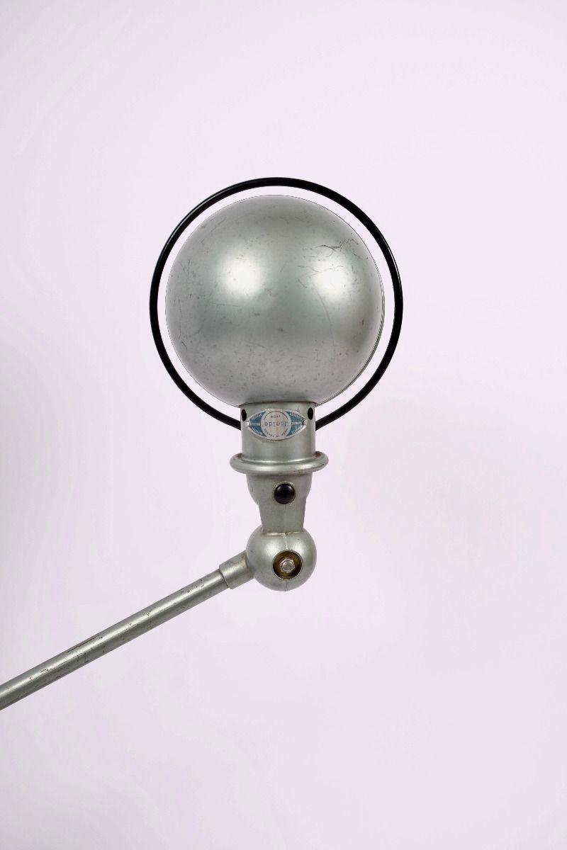 Fransk Vintage Jieldé Bordlampe Med 2 Stk. 45 cm Arm i Original Vespagrøn #9220