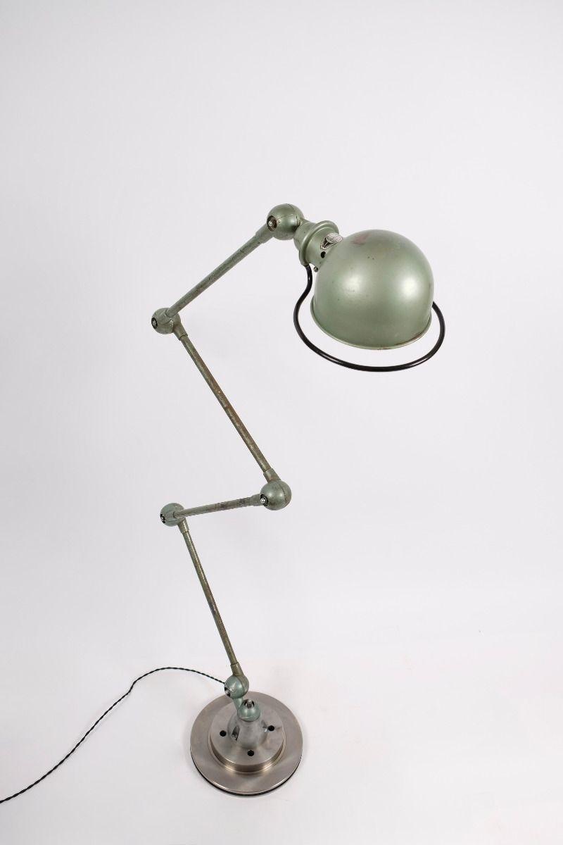 Fransk Vintage Jieldé 4 Arms Gulvlampe i Original Vespagrøn #9379