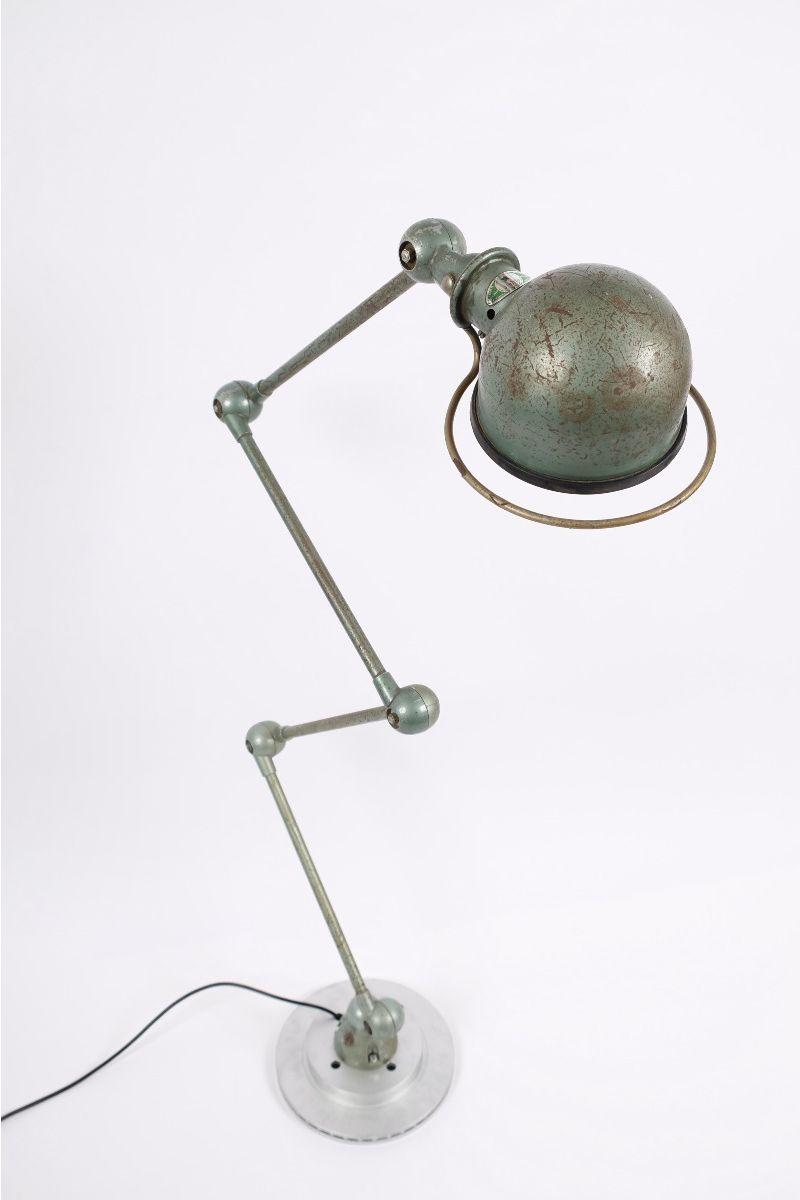 Fransk Vintage Jieldé 4 Arms Gulvlampe i Original Vespagrøn #9639