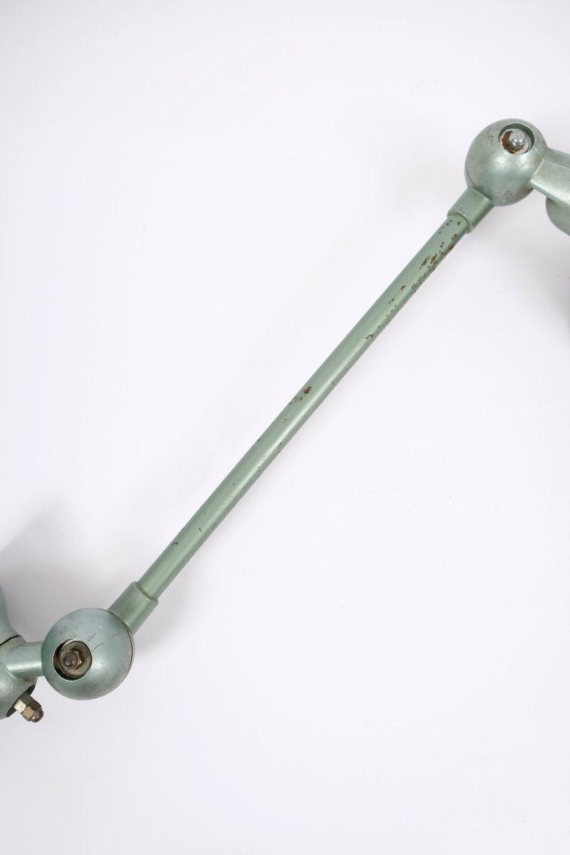 Fransk Vintage Jieldé Væglampe i Vespagrøn 1 Arm á 45 cm #9663