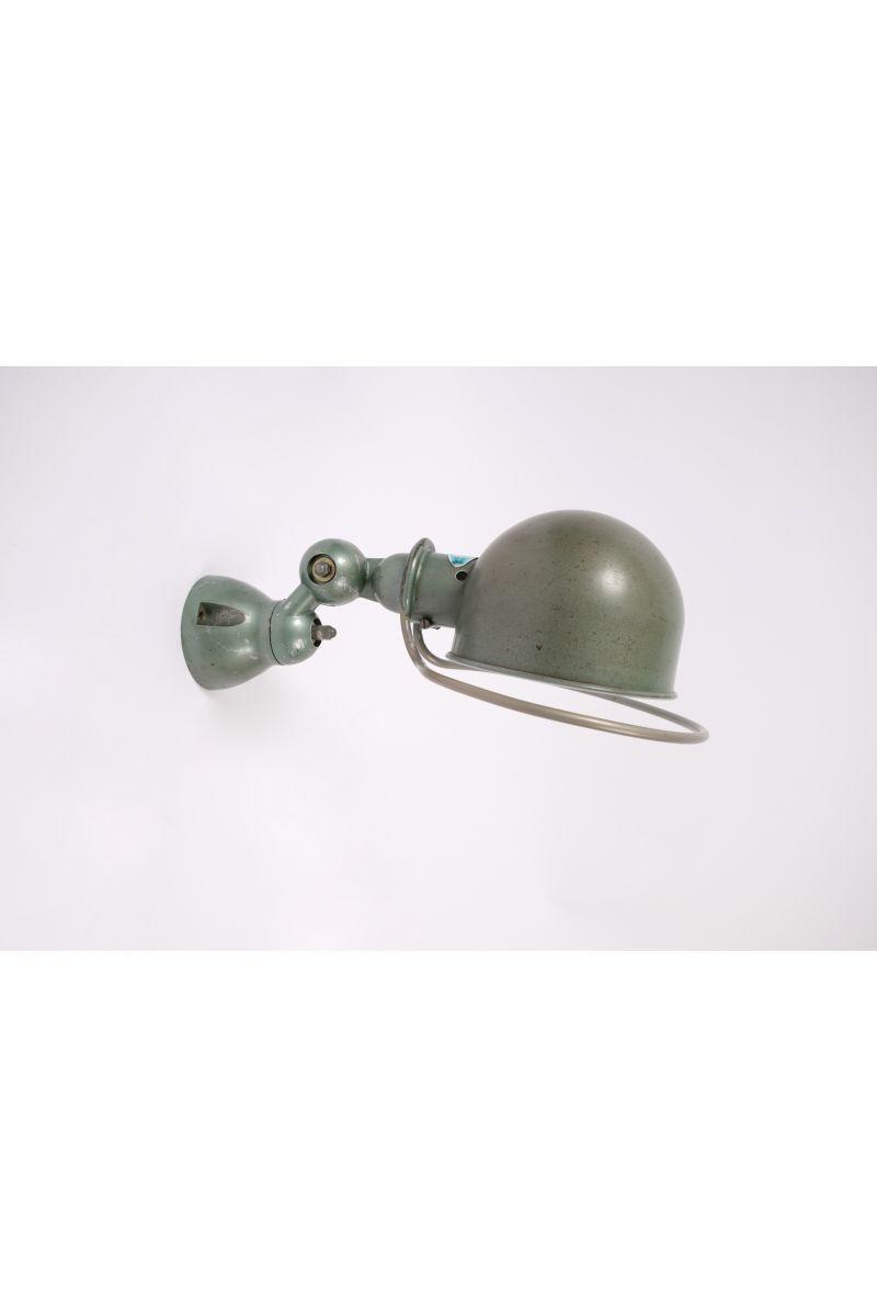Fransk Vintage Jieldé Væglampe i Original Vespagrøn #8153
