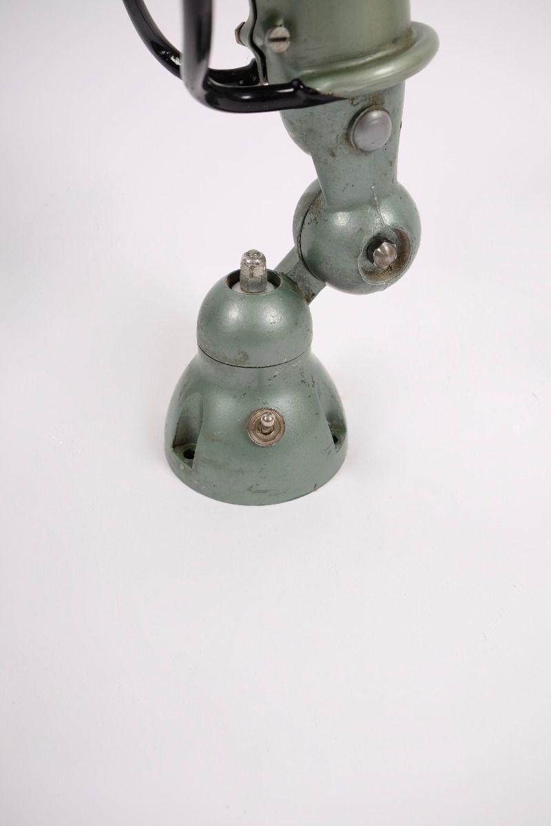 Fransk Vintage Jieldé Væglampe i Original Vespagrøn #9015