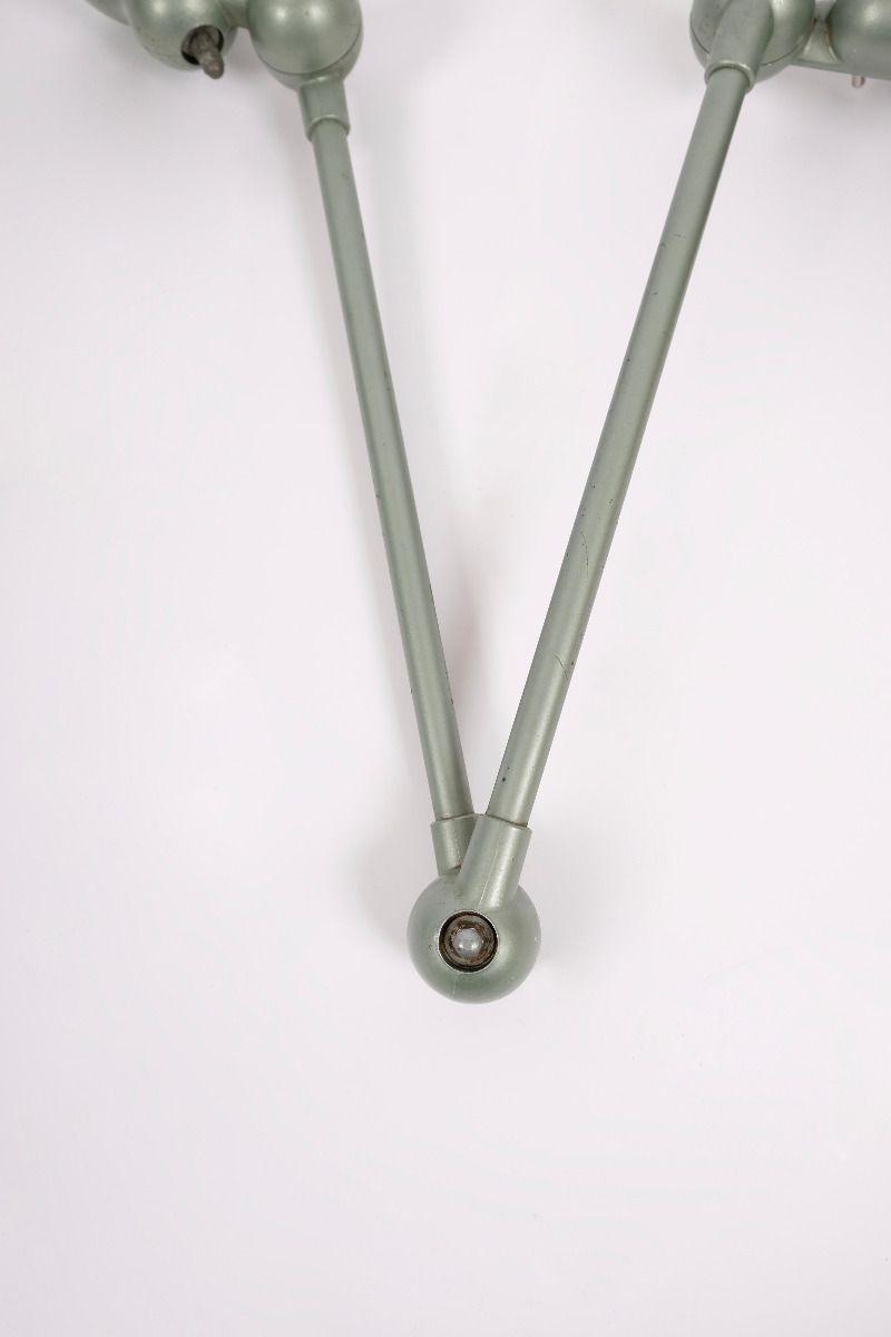 Fransk Vintage Jieldé Væglampe Med 2 Stk. 45 cm Arm i Original Vespagrøn #9128