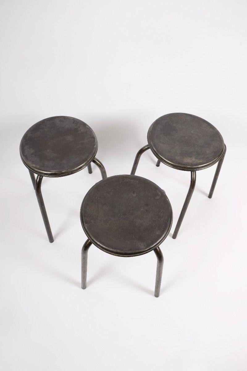 Fransk Vintage Metaltaburet (pris pr. stk.) #9873