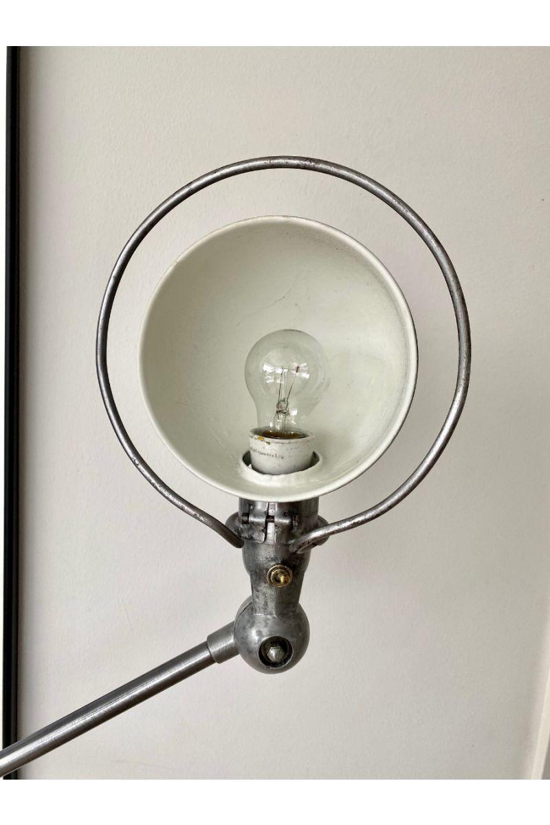 Vintage Jieldé 5 Arms Gulvlampe Børstet Stål Finish Jean Louis Domecq Fransk Industri Lampe #9392
