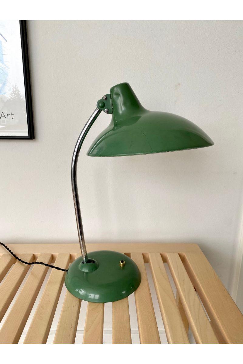 Christian Dell Kaiser Idell Model 6786 Bordlampe Grøn #9397