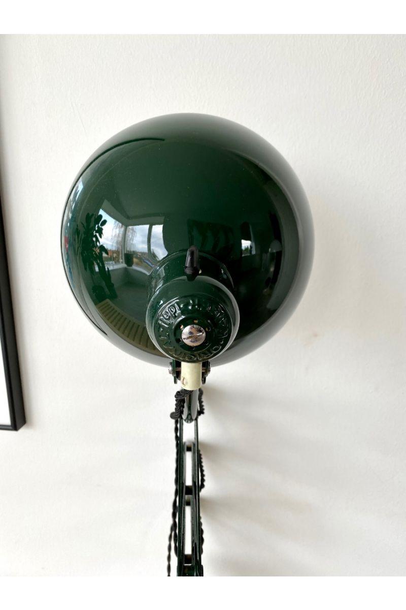 Christian Dell Kaiser Idell Model 6614 Super Sakselampe/Væglampe Jaguargrøn #9365
