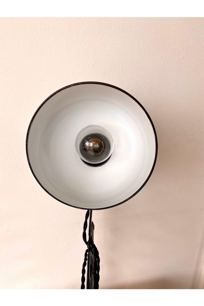 Christian Dell Kaiser Idell Model 6718 Sakselampe/Væglampe Blank Sort #9411