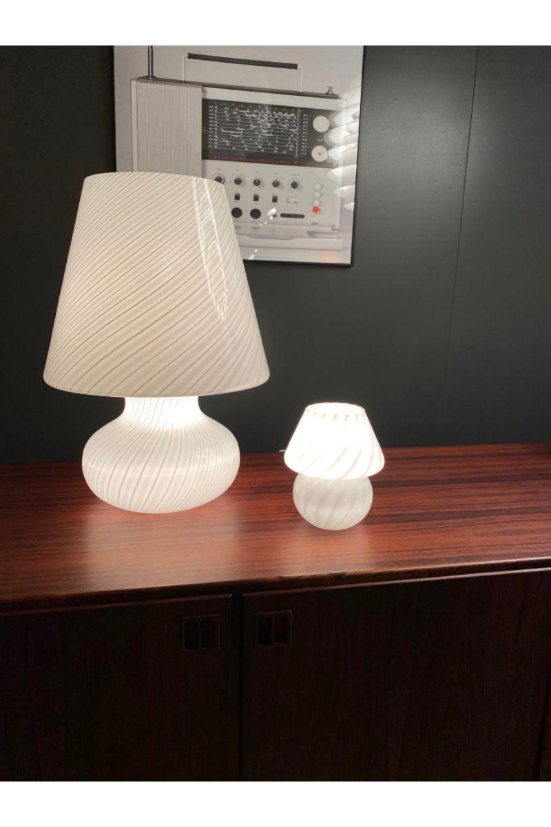 Italiensk Vintage Murano Mushroom Bordlampe Ø15 #8668