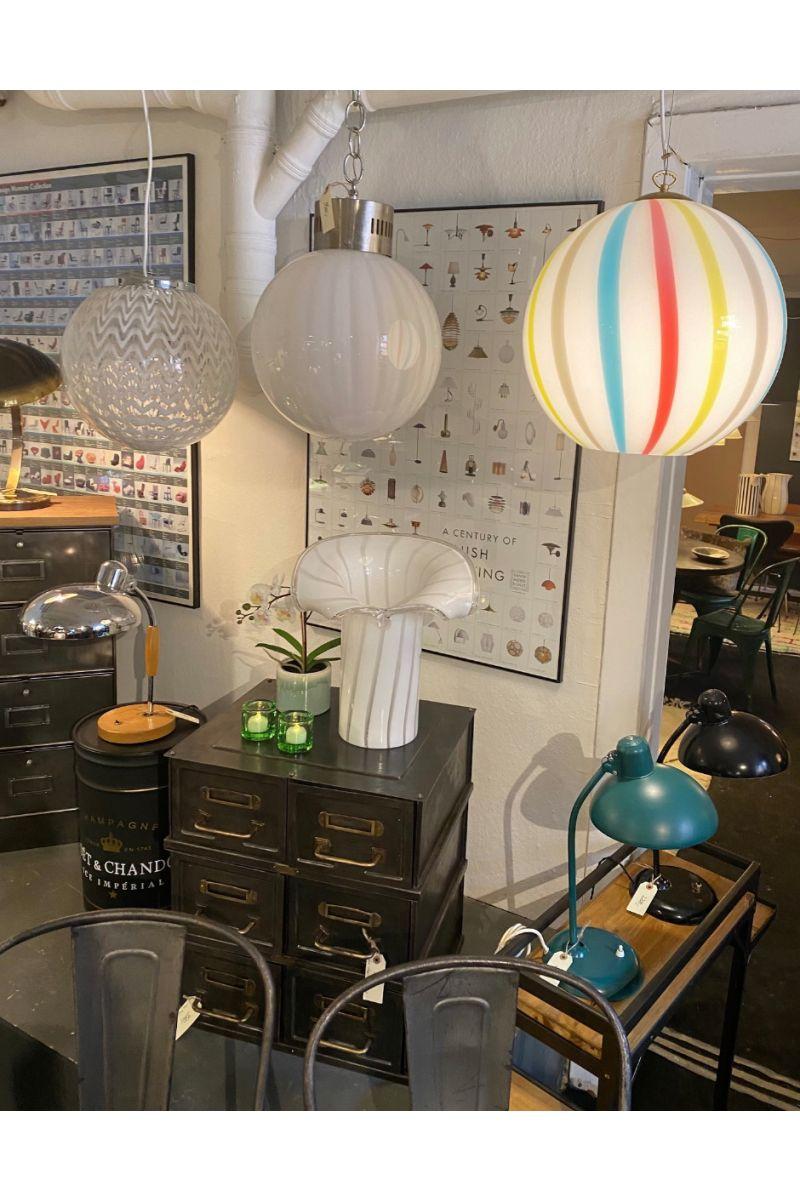 Italiensk Håndlavet Loftlampe i Glas Ø40 #9685