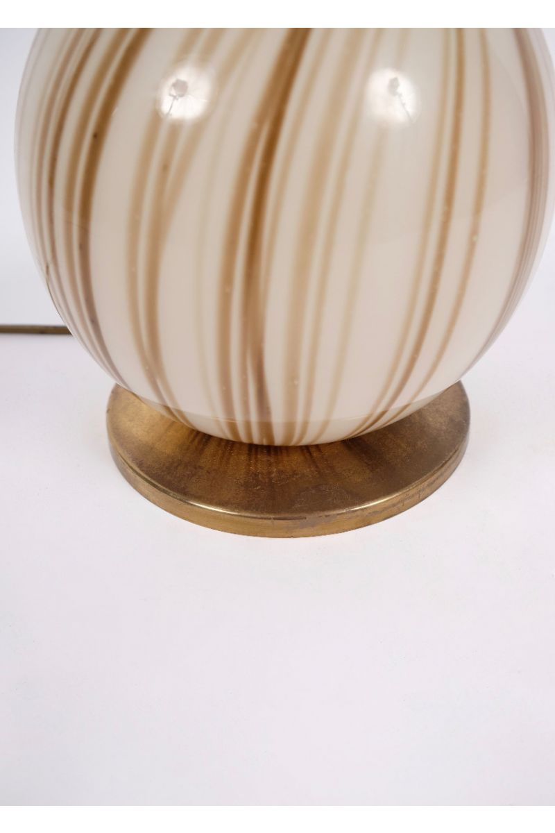 Italiensk Vintage Murano Bordlampe Ø20 #8647