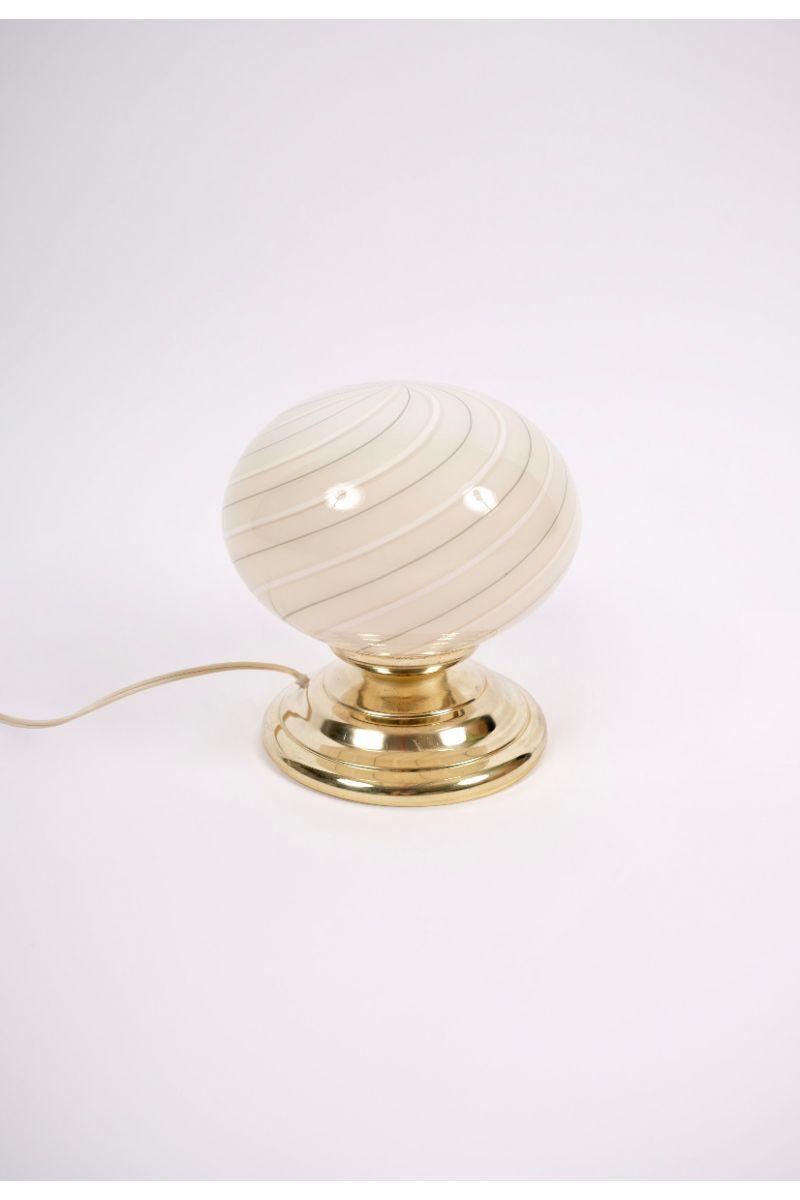 Italiensk Vintage Murano Bordlampe Ø19 (pris pr. stk.) #9317