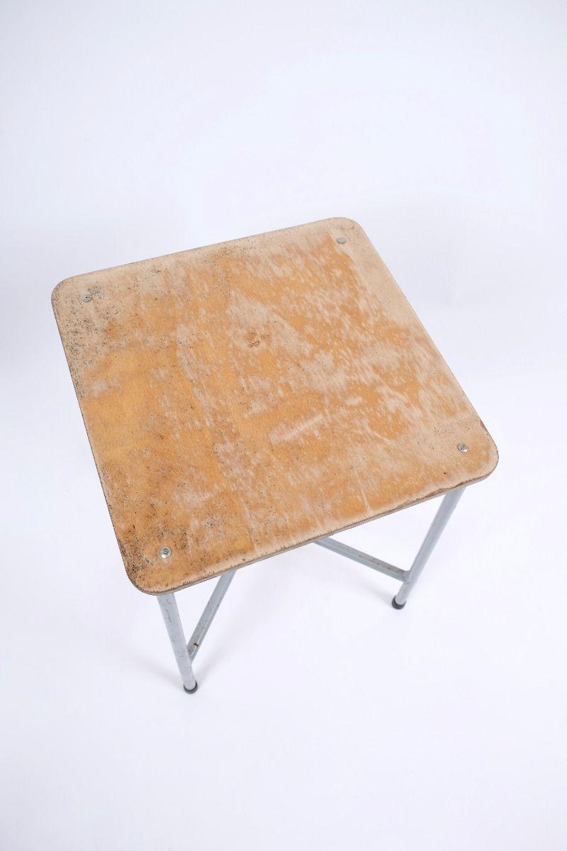 Vintage Metal Blomsterbord Med Trætop (pris pr. stk.) #8971